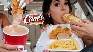 Raising Canes Mukbang!! (huge cup of sauce) in my new BMW