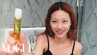 Korean Model Hoyeon Jung's Steps for Perfect Skin and a Two-Tone Lip | Beauty Secrets | Vogue