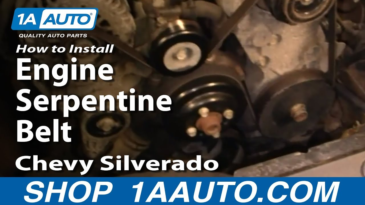88 gmc sierra 1500 wiring harness diagram how to install replace engine serpentine belt chevy ... 2003 gmc sierra 1500 serpentine belt diagram #13