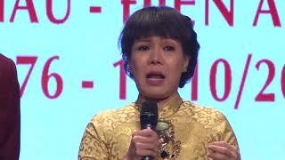 Nghệ sĩ Việt Hương chia sẻ | Lễ kỷ niệm 40 năm thành lập trường | 2016.10.08.(11)