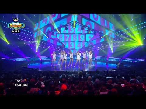 M.O.A(with Hong-man Choi & Seung-ok) - I'll Call Ya, 모아(with 최홍만&유승옥) - 전화할게, Show Champion 20140305