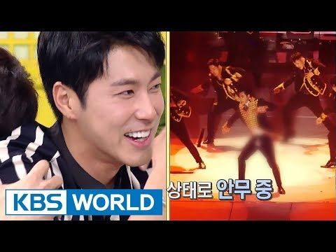 Yunho's pants ripped & he continued to dance on stage! [Happy Together / 2017.10.12]