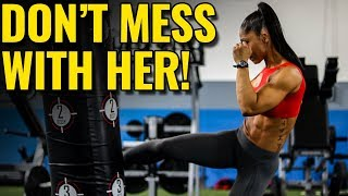She's TOUGH! (and a Bikini Model)  |  10-Minute Cardio Kickboxing HIIT Workout