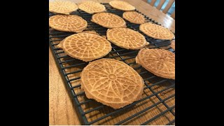 Pizzelles Italian waffle cookie made with love