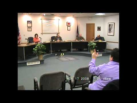 Rouses Point Village Board Meeting  11-17-08