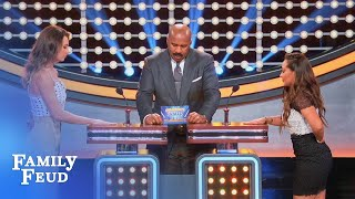 Don't do this while Steve's sleeping! | Celebrity Family Feud