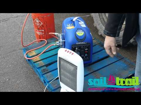 Hyundai HY3000SEI LPG Starting Demonstration Via Recoil Start by Sail and Trail