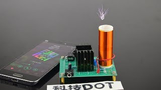 How to make a mini Musical Tesla Coil Plasma Speake自制DIY微型音乐特斯拉线圈