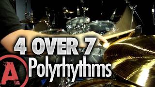 4 Over 7 Polyrhythms - Advanced Drum Lessons