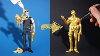 My own MIDAS Challenge – with clay & gold paint (Fortnite Battle Royale)