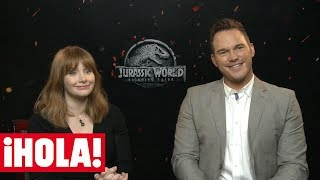 CHRIS PRATT y BRYCE DALLAS HOWARD, estrellas de 'JURASSIC WORLD: el reino caído'