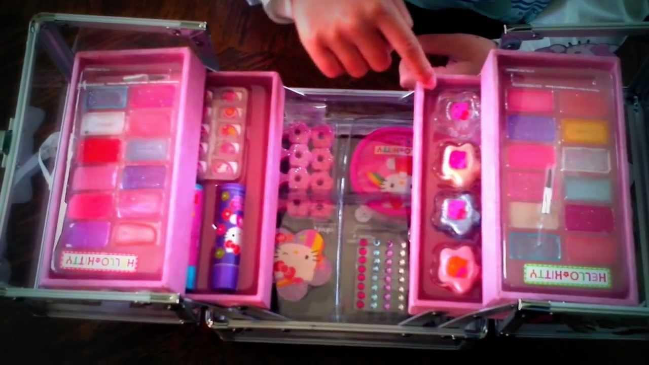 Barbie Make-up Kit - Box Case - Toy Cosmetic - Make-up Kit ...  |Barbie Makeup Kit For Kids