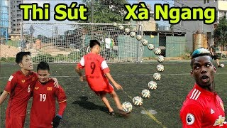 Thử Thách Bóng Đá Lương Xuân Trường , Quang Hải Nhí VS Team Pogba Việt Nam sút xà ngang