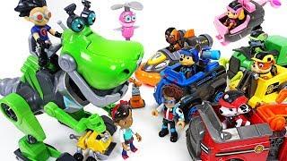 Paw Patrol's car broke down! Help me! Rusty Rivets and transform dinosaur! - DuDuPopTOY