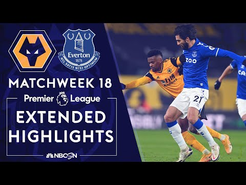 Wolves v. Everton | PREMIER LEAGUE HIGHLIGHTS | 1/12/2021 | NBC Sports