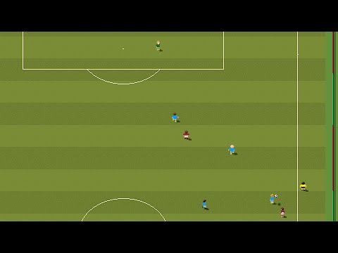 Il gol di Florenzi contro il Barcellona nel videogame 'Sensible Soccer'
