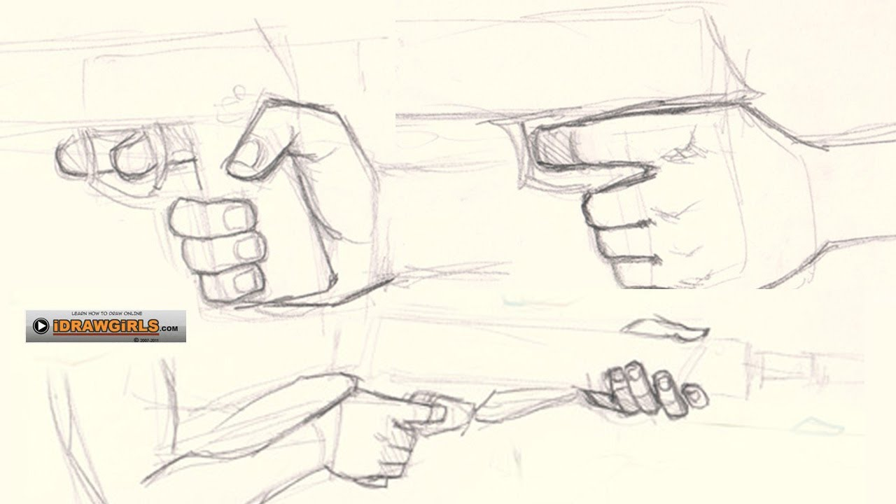 It's just a picture of Nerdy Man Holding Gun Drawing