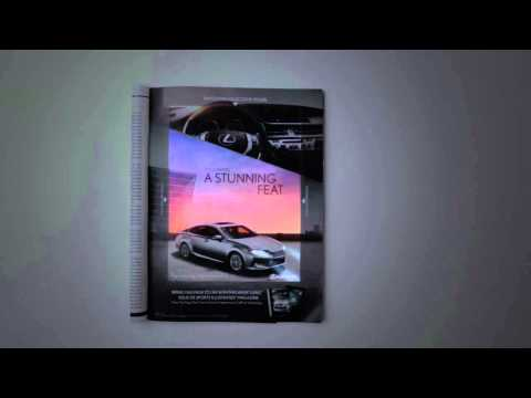 FIPP Innovations 2013: Lexus brings a magazine to life with CinePrint™