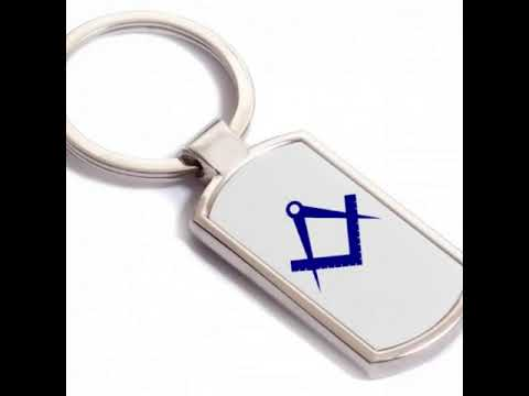 video Masonic key ring Gift or present (With custom print option)