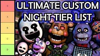 FNAF Ultimate Custom Night Tier List (Based on Animatronic AI Difficulty!!!)
