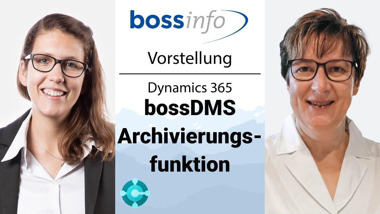 bossDMS mit dgarchive für Microsoft Dynamics 365 Business Central