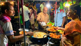 Amazing $1.40 SOUTH INDIAN vegetarian meal + South Indian street food | MADURAI, India street food