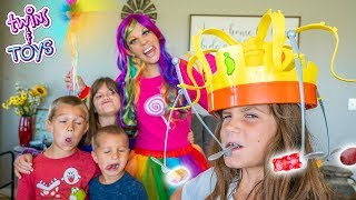 Kate and Lilly Chow Crown Challenge with Princess Lollipop!