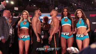VASYL LOMACHENKO VS JORGE LINARES FULL WEIGH IN & FACE OFF VIDEO