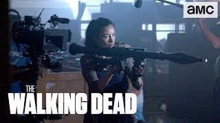 'Michonne & Rosita Warehouse Fight' Behind the Scenes Ep. 806 | The Walking Dead