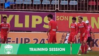 CLB Hoàng Anh Gia Lai tập luyện hăng say trước cuộc đối đầu Hải Phòng FC | HAGL Media