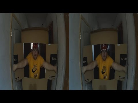 Idiot from a Cardboard Box in 3D !3D VIDEO