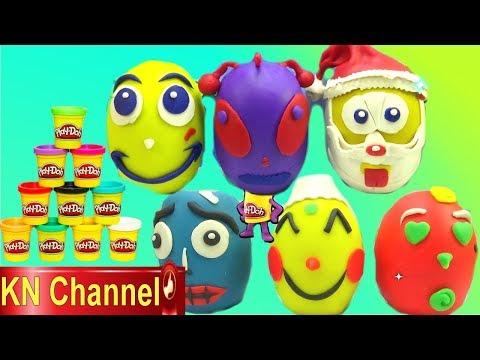 KN Channel BÉ NA BÓC ĐỒ CHƠI BẤT NGỜ TRONG QUẢ TRỨNG NGƯỜI NGOÀI HÀNH TINH PLAY DOH