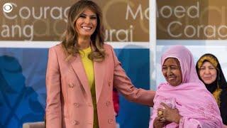 First lady Melania Trump celebrates birthday