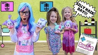 Toy Doctor Fixes Silly Kids Hair with Shnooks