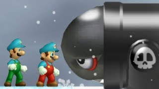 Newer Super Mario Bros Wii - All Airships (2 Players)
