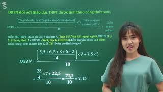 Cách tính điểm xét tốt nghiệp THPT 2019