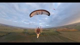 Paragliding students in tuition at paramotor training uk - normanby hall