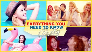 Everything YOU Need to Know: PARTY by SNSD (Girls' Generation) Video l @Soshified