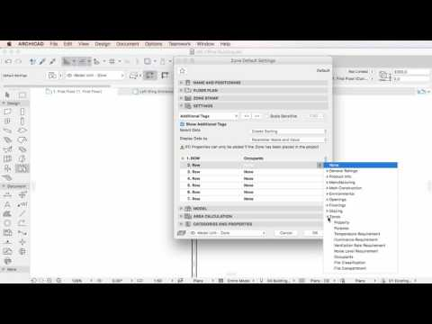 ARCHICAD 20 - Properties in Zone Stamps