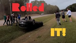 Burnout Fail & Crash leaving 10/6/19 Knightdale Cars and Coffee