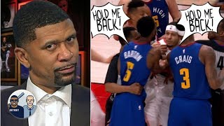 Nothing but hot air between Blazers, Nuggets in Game 6 scuffle – Jalen Rose | Jalen & Jacoby