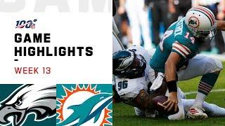Eagles vs. Dolphins Week 13 Highlights | NFL 2019