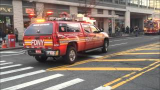 FDNY RESPONDING TO & WORKING A 10-77 HIGH RISE FIRE ON 42ND ST. IN HELL'S KITCHEN, MANHATTAN, NYC.