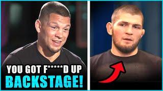 Nate Diaz RIPS both Khabib & Leon Edwards for getting punked backstage, Jorge Masvidal reacts