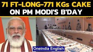 Surat: 71 feet long cake weighing 771 KGs on PM Modi's bir..