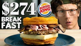 $274 Burger King Breakfast Sandwich Taste Test | Fancy Fast Food