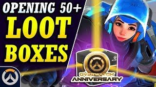 PERFECT LUCK! - Opening 50+ Loot Boxes for Overwatch 2019 Anniversary Event!