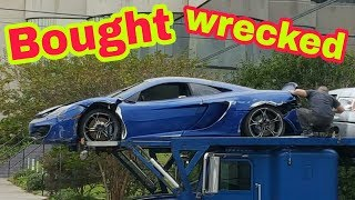 Wrecked Mclaren bought from Copart part 2 ( disassembly )