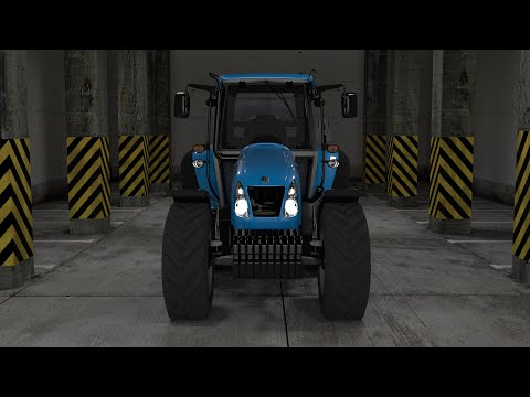 3D visualization of T5070 Tractor - industrial visualizations
