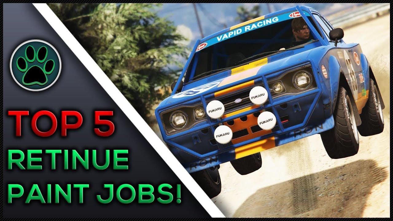 GTA 5 Online - Top 5 Vapid Retinue Paint Jobs & Customization - GTA